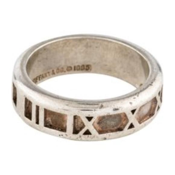 7becfb2e318ea Tiffany & Co Narrow Atlas Band Ring 0.925 Vintage